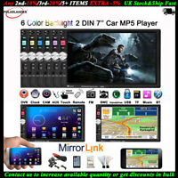 "7"" 2 Din Bluetooth Stéréo MP5 Player Autoradio FM/DVR/AUX/TF Head Unit+Caméra"