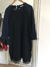 BNWT Marks and Spencer Size 12 Blue Black Lace Dress RRP £45