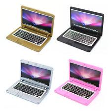 1 Pcs 1/12 Dollhouse Miniature Mini Laptop Black/Sliver/Gold/Pink Room Items