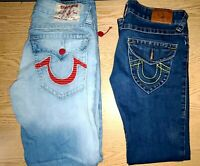 Lot 2 Mens True Religion World Tour Size 30 Straight