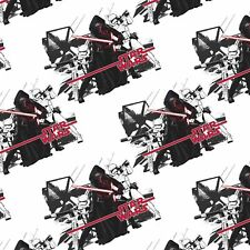 Star Wars The Force Awakens Fabric - Imperial White - 100% Cotton