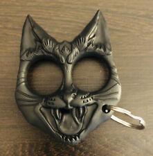 Self Defense Keyring Black Cat Knuckles Tool
