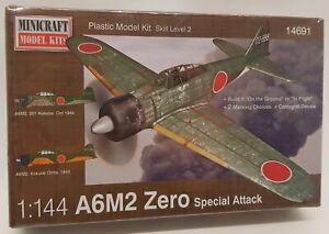 Minicraft Model Aircraft Kit 14691 - 1/144 Scale A6M2 Zero Special Attack