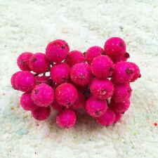 Artificial Bouquet Fruit Glass Berries Stamen Flowers DIY Scrapbooking Craft 20x