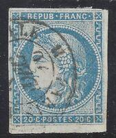 n°45Ac Cérès Bordeaux 20c Type II R1 Impression fine TB oblitéré - Signé Calves