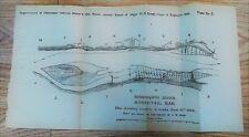 1882 Sketch Map Mississippi River Horsetail Bar Jefferson Barracks Carroll's Isl