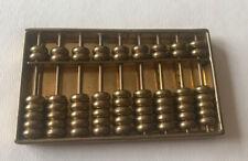 Vintage Abacus Counter Brass Hong Kong Vtg