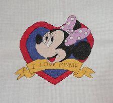 DISNEY Minnie Mouse-I LOVE MINNIE-completato Cross sticth (G3889)