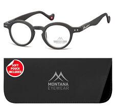 Montana Lesebrille rund matt schwarz stärke 2 00 (box69)