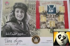 2005 £2 SCARCE SILVER PROOF TWO POUND COIN COVER FDC END OF WW SIGNED VERA LYNN