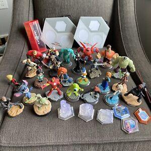 Disney Infinity Characters Crystals XBox 360 Game Pad Portals Power Disks Lot