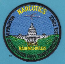 DEA NARCOTICS WASHINGTON -DULLES AIRPORT TASK FORCE POLICE SHOULDER PATCH
