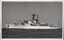 Schiffsfoto-AK Ship Real Photo ~1950/60 Marine Kriegsschiff Battleship Foto
