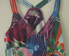 Desigual Damen Strandkleid Minikleid ärmellos Baumwolle Gr.XL oder 40/42 TOP
