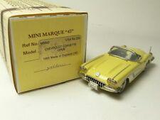 CHEVROLET CORVETTE OPEN 1959 MINI MARQUE'43 USA NO.22B 1:43 MADE IN ENGLAND
