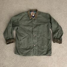 American Eagle Mens Utility Jacket Button Up Pockets Green Cotton Size XL