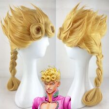 JoJo's Bizarre Adventure Giorno Giovanna Long Golden Braid Styled Hair Wig N012