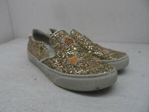 Nurse Mates Women's Slip-On Dazzle Slip-Resistant Shoes Gold Size 9M