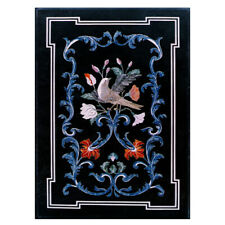 """24""""x36"""" Black New Design Marble Coffee Table Top Decorative Inlay Work"""