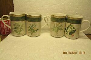 "Set of 4 American Atelier Bouquet Garni 4 1/4"" Mugs"