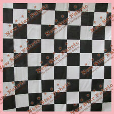"""Black / White Checker 2"""" Poly Cotton Fabric 58 inches width sold by the yard"""