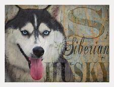 Siberian Husky Dog Print Poster -Alaskan Malamute-signed Wendy Presseisen