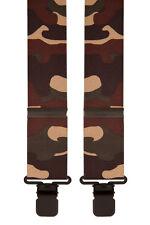 Marrón Beige Camuflaje Del Desierto Ejército Novedad Pantalón Tirantes Tirantes para hombre