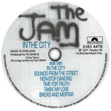 More details for the jam. all mod cons. in the city. record label vinyl sticker. paul weller. mod