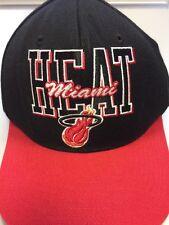 Hardwood Classics/Mitchell & Ness NBA Miami Heat Black Snap Back Baseball Cap