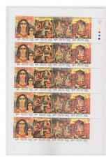 India 2007 WOMENS DAY  4v Setenant Sheet Complete MNH Rare 5 strips PST-90