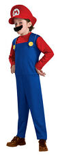 Super MARIO Official Nintendo Costume Boy's size 10/12 NeW Red Hat Mustache