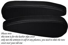 WHITE Stitch accoppiamenti CITROEN C8 PEUGEOT 807 FIAT ULYSSE 02-10 2x SEDILE copertura bracciolo