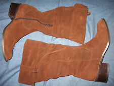 WOMENS CHA CHA BROWN SUEDE SLOUCH FASHION BOOTS 6.5