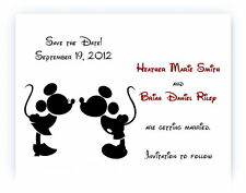 100 Personalized Disney Mickey and Minnie Bridal Wedding Save The Date Cards
