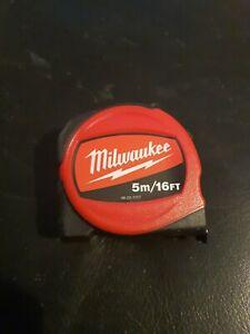 Milwaukee 48227717 Slimline Tape Measure 5m/16ft (Width 25mm)