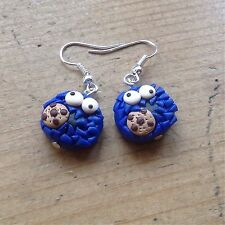 earrings Cookie Monster Drops Handmade Cute Retro Valentines Day Gift ideas