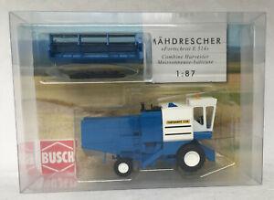 Busch 1:87 40160: Mähdrescher Fortschritt E 514, blau