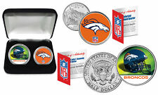 DENVER BRONCOS Officially Licensed NFL 2-COIN U.S. SET w/ Deluxe Display Box