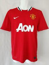 Rare Vintage Manchester United Nike Dri Fit Jersey Aon Soccer Shirt Size Medium