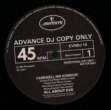 "All About Eve(12"" Vinyl)Farewell Mr Sorrow-Mercury-EVNDJ 14-UK-1991-VG/Ex+"