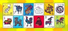 China 1981-1991,  Zodiac, Souvenir Sheet not stamp ( RARE ISSUED )