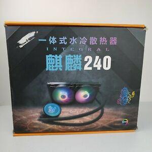 Tritonforce 240mm Aio CPU Liquid Cooler ARGB Dual Fan RGB JAPANESE