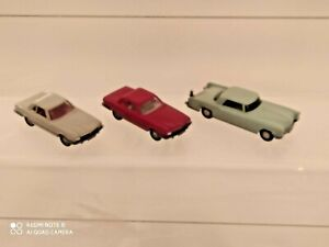 Lotto WIKING GERMANY 1 OPEL+ 2 MERCEDES (ROSSA + GRIGIA)  VINTAGE SC 1:87 NUOVO