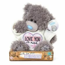 "Me to You 7"" Love You So Much Plush & White Jumper - Tatty Teddy Bear"