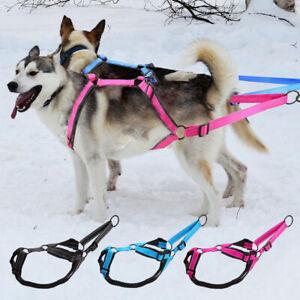 Dog Sled Pulling Harness X Back Working Vest for Large Dogs Exercise Skijoring