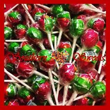 50  ROSEY APPLE LOLLIPOPS JOHNSONS RED GREEN ORANGE LOLLIES ROSY LOLLYPOPS XMAS