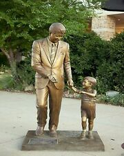 President John F. Kennedy Statue and JFK Jr. Rapid City SD New 8x10 Photo