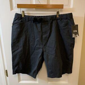 Mountain Hardwear Cederberg Pull On Short Shorts Men XL $65 NWT New Black