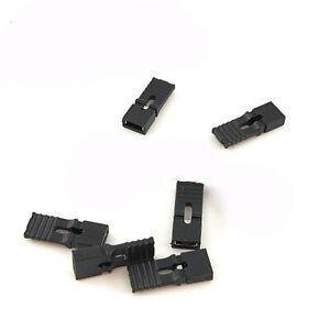 50PCS 2.54mm Pitch Black Open Jumper Short Cap Shunt Header - Lengthen handle