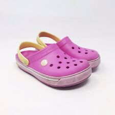 3f310c7779304 Crocs Classic Crocband Pink Slip On Clogs Mules Girls Youth Size 12   13